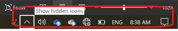 Windows Key + B