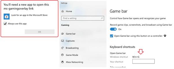 Windows Key + G