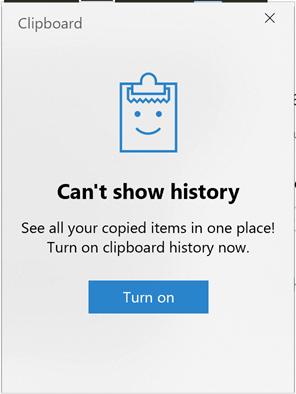 Windows Key + V