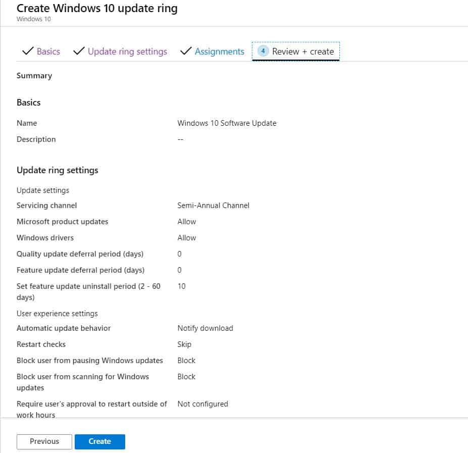 Windows 10 Software Update Patching Options with Intune WUfB 2