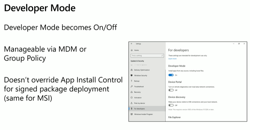 MSIX Updates from Ignite Reliability Network Disk-space 2