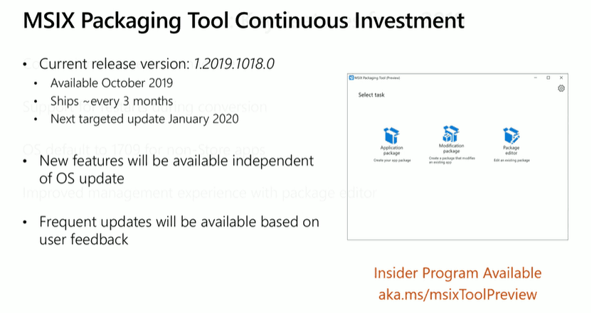 MSIX Updates from Ignite Reliability Network Disk-space 7