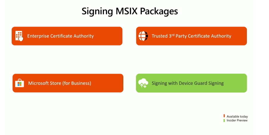 MSIX updates -Signing MSIX Packages