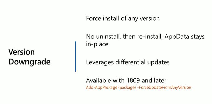 MSIX updates Version Downgrade