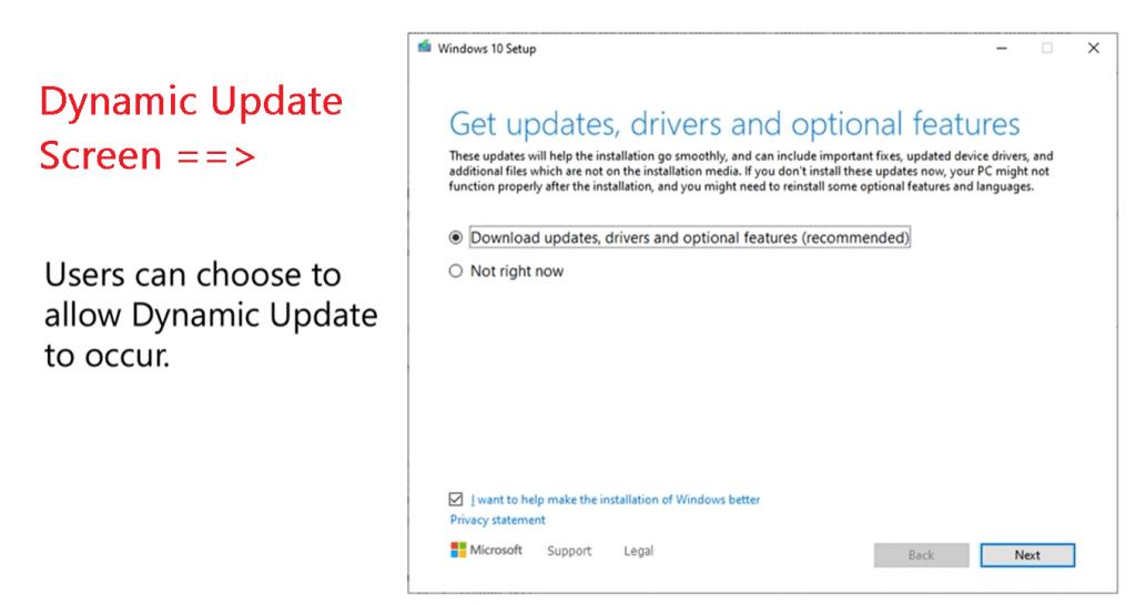 Windows 10 Dynamic Update