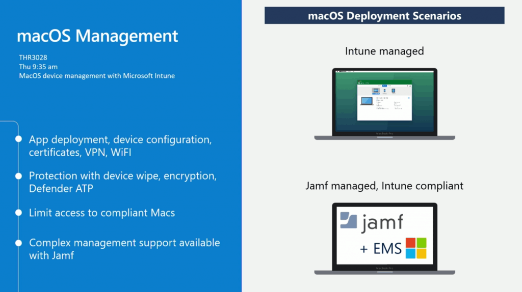 macOS management with MEM Intune + Jamf - iOS Android macOS Mobile Enrollment