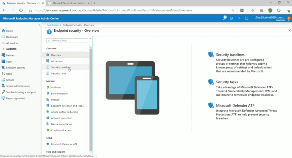 Endpoint Management (Device Management) and Security Admin - Intune Endpoint Security