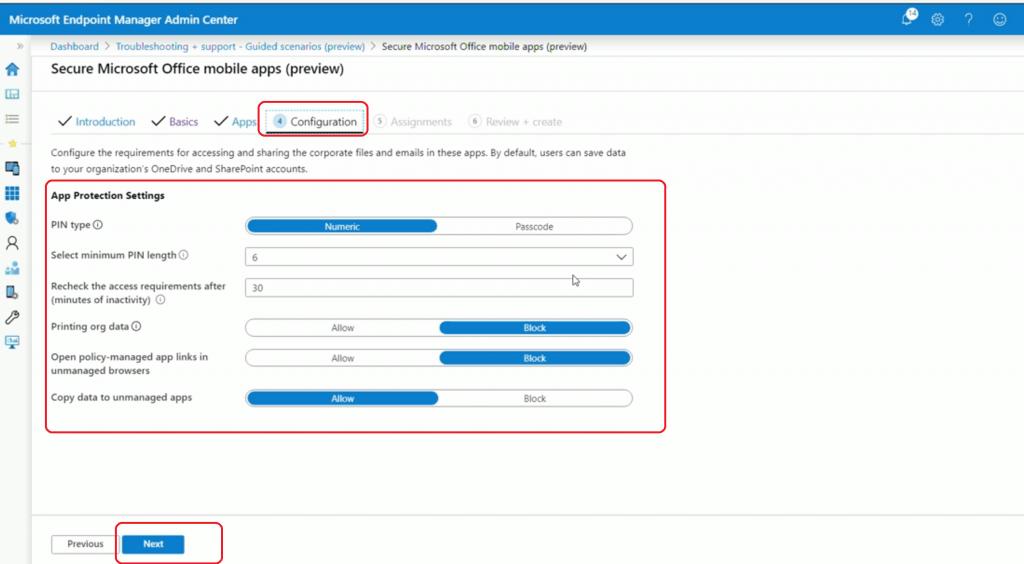 Intune App Configuration Details