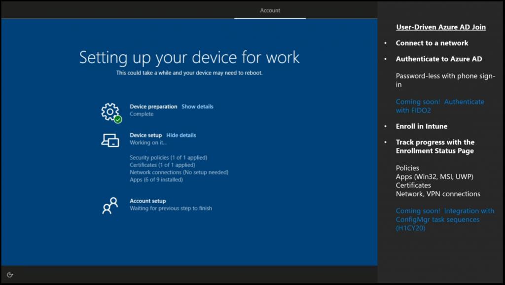 User-Driven Azure AD Join - Windows Autopilot Updates