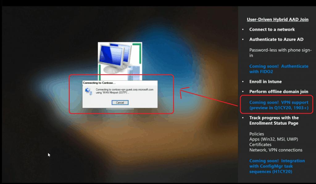 User-Driven mode Hybrid Azure AD join - Windows Autopilot Updates