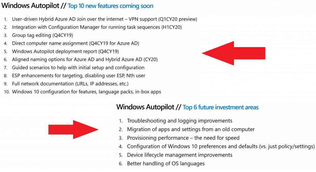 Windows Autopilot Updates Timelines Microsoft Endpoint Manager MEM 3
