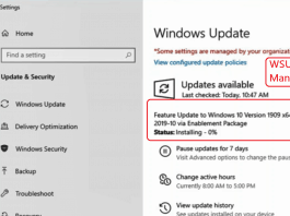 SCCM Windows 10 1909 Upgrade