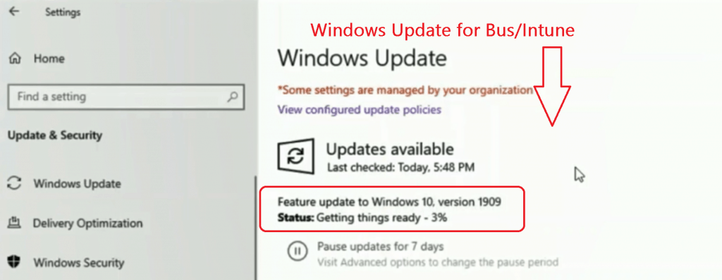 Windows Update for Business Changes