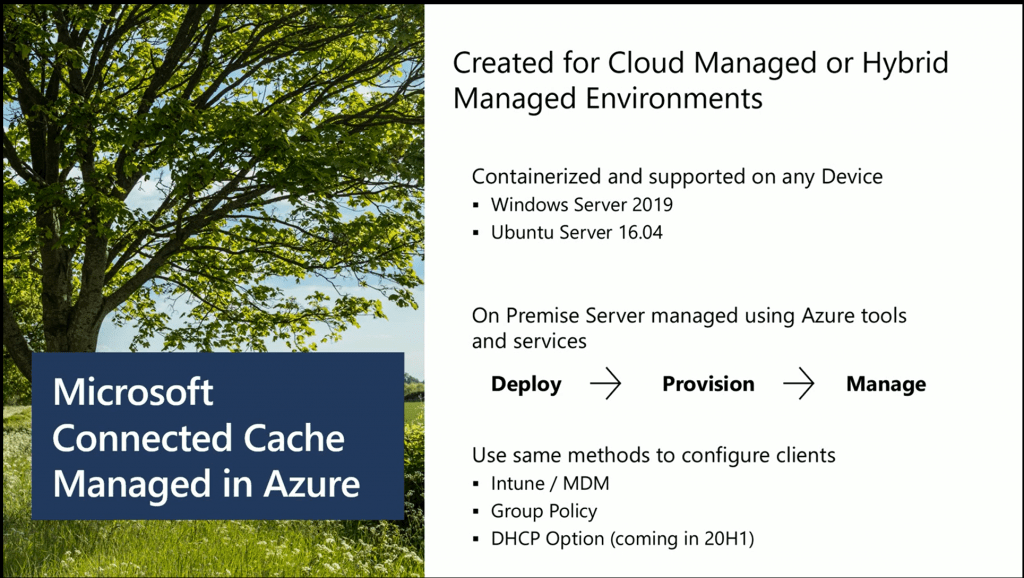 Connected Cache Managed in Azure