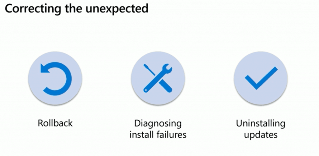 Correcting the unexpected of Windows 10 update