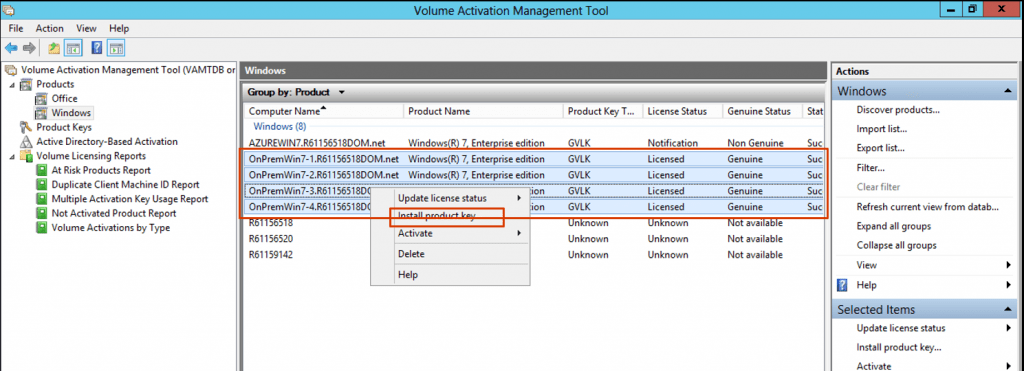 Install ESU Add-on Product key Volume Activation Management Tool (VAMT)