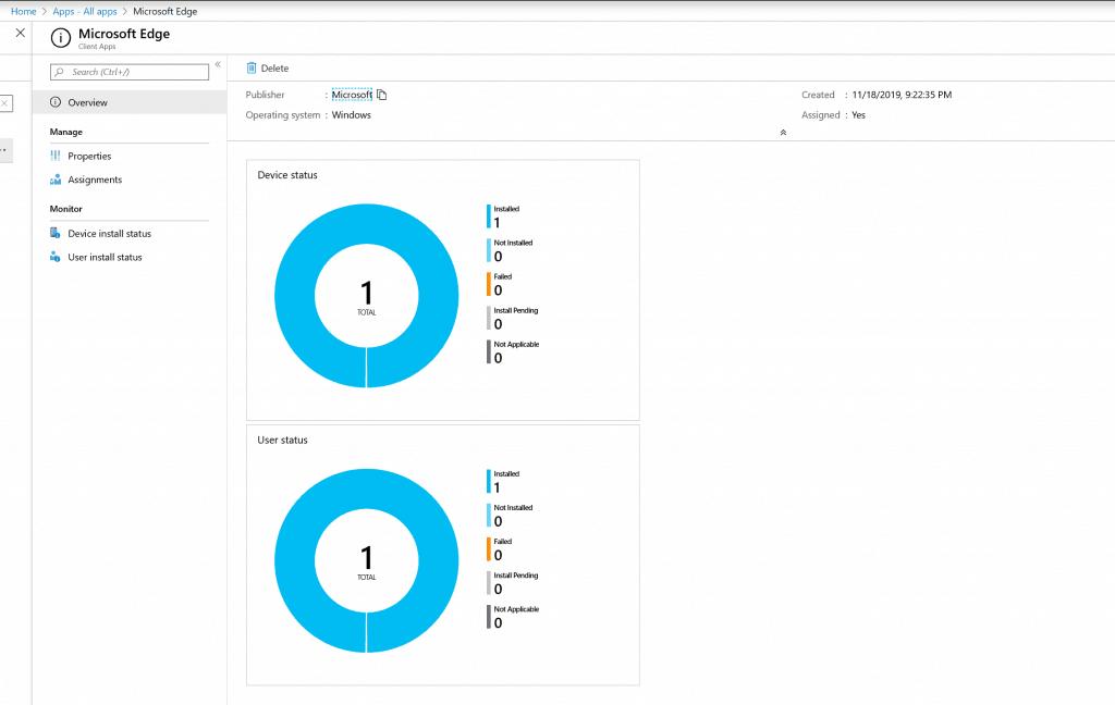 Microsoft Intune Software Distribution - Microsoft Edge - Intune Portal