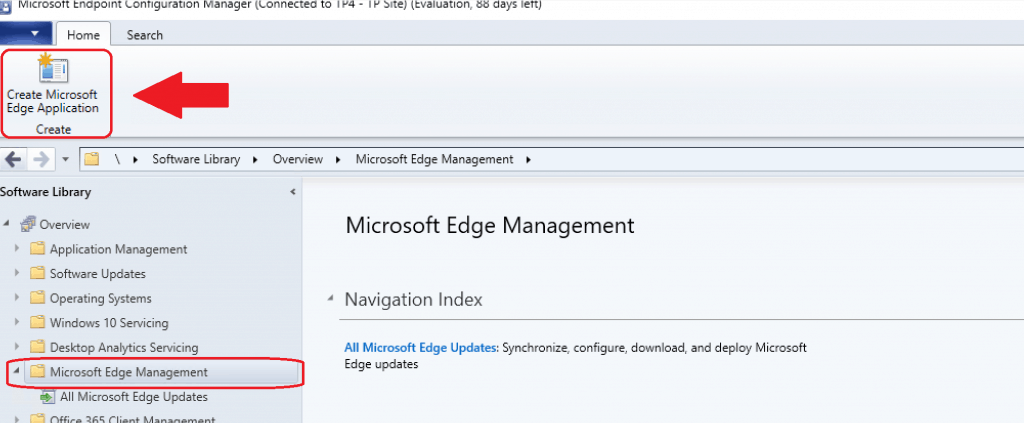 Create Microsoft Edge Application from SCCM