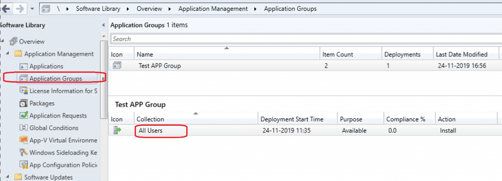 Application Group Enhancements with SCCM 1910