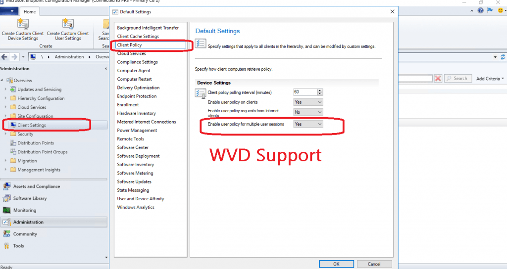 WVD Support with 1910