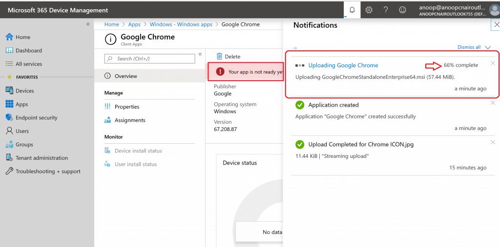 Uploading Google Chrome - Google Chrome Browser