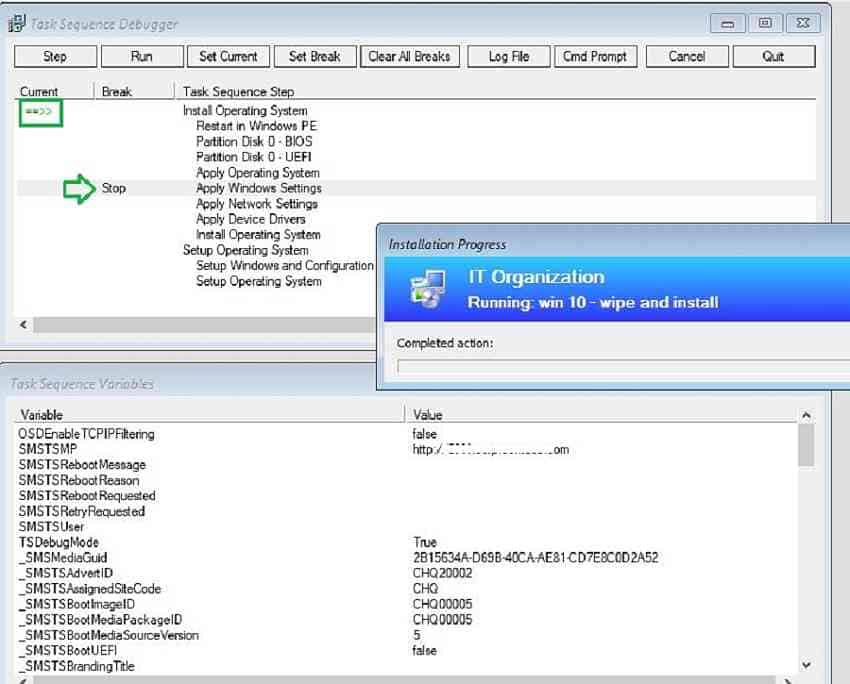 Learn How to Troubleshoot SCCM Task Sequence Debugger 1