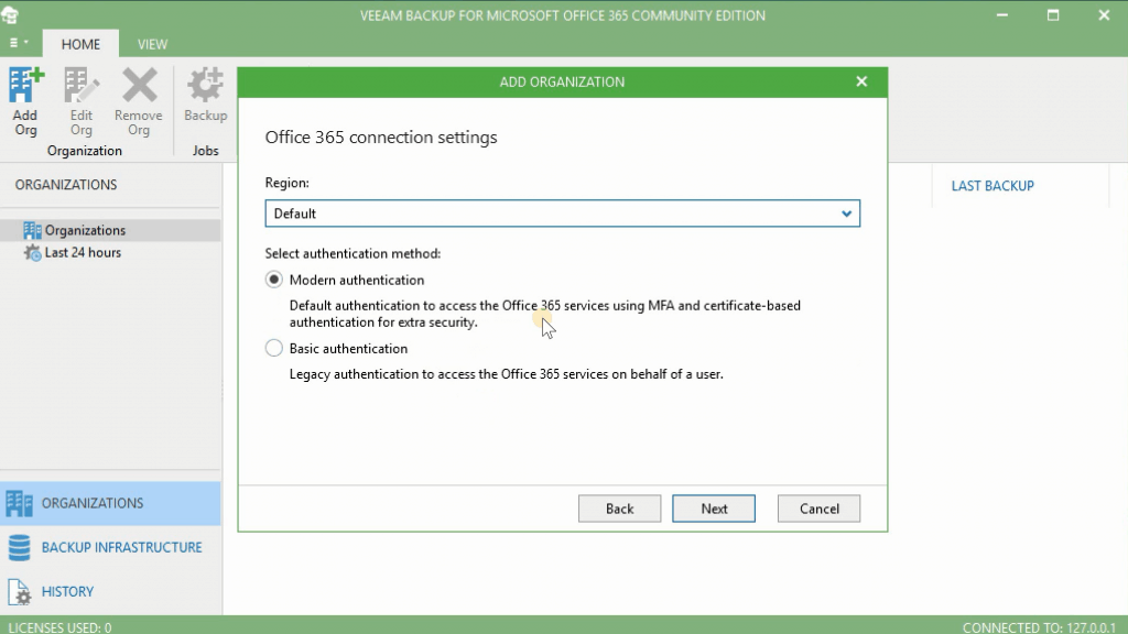 Microsoft Office 365 Authentication Options