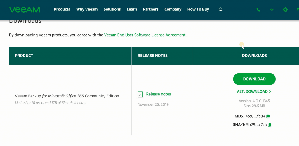 Veeam Backup Community Version Download - Veeam Backup for O365 v4