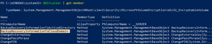 Win32_EncryptableVolume WMI class methods - behnid the scenes of Bitlocker Drive Encryption