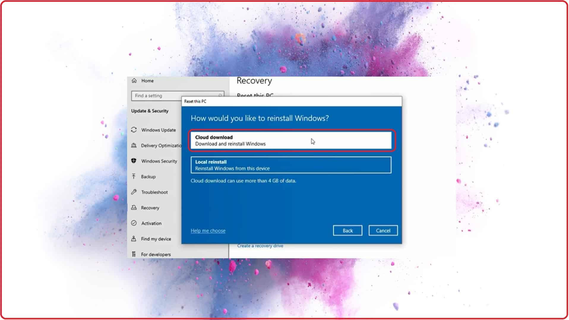 Windows 10 Cloud Recovery