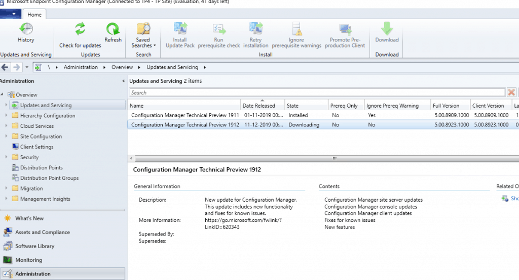 MEMCM ConfigMgr 1912 Technical Preview