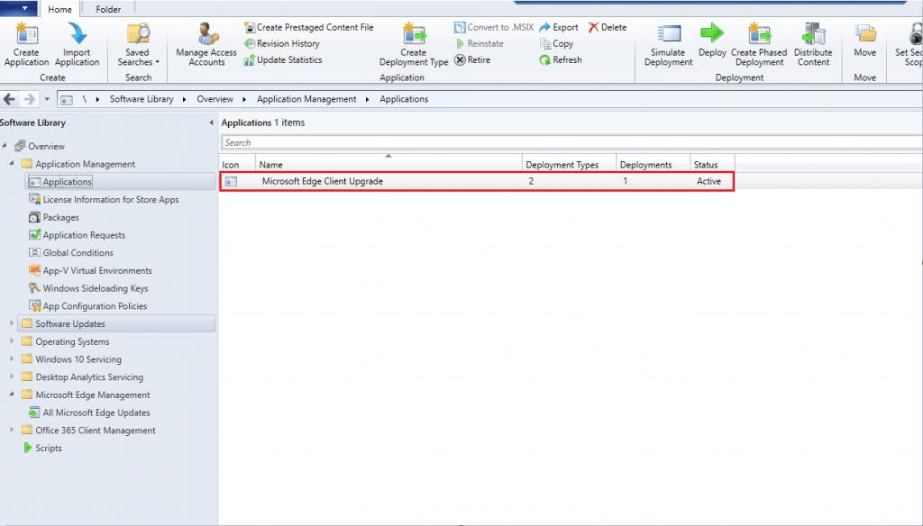 Results - Upgrade Microsoft Edge Chromium Based Using ConfigMgr