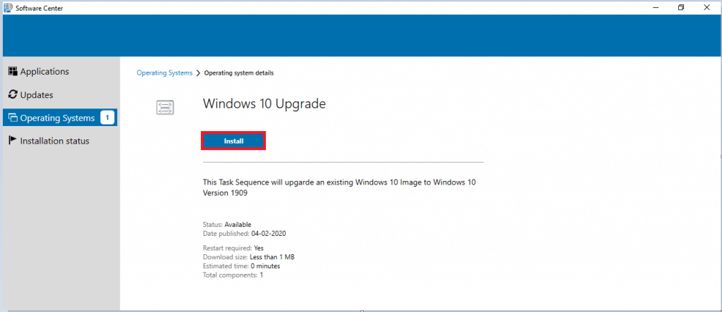 Windows 10 1909 Upgrade Using SCCM Task Sequence|ConfigMgr 22