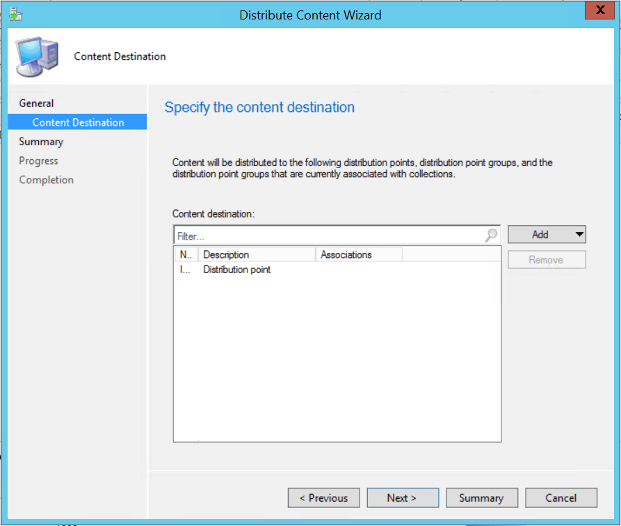 Added the SCCM Distribution Point