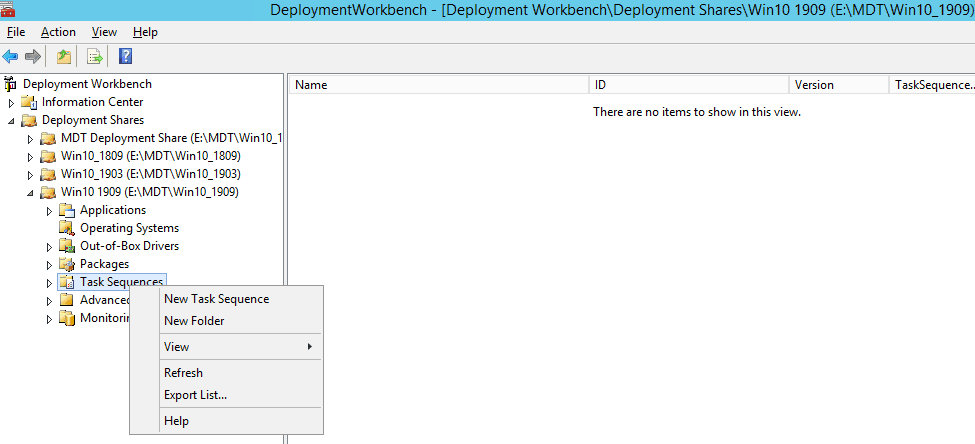 New Task Sequence - Image Creation Using MDT