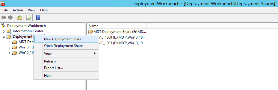 New Deployment Share - Image Creation Using MDT