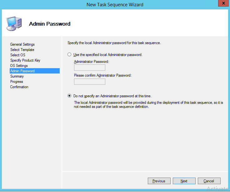 Admin Password for TS ? Image Creation Using MDT