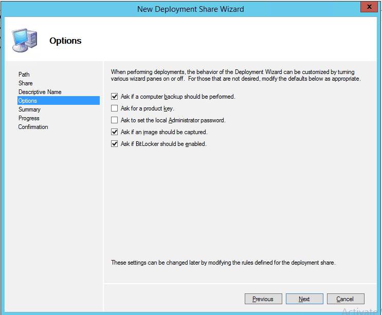 MDT New Deployment Share