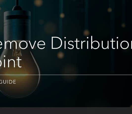 Remove Configuration Manager Distribution Point Installation Guide