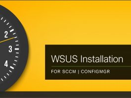 WSUS Installation Guide for SCCM