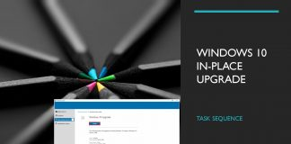 Windows 10 Upgrade Task Sequence in-place Upgrade SCCM