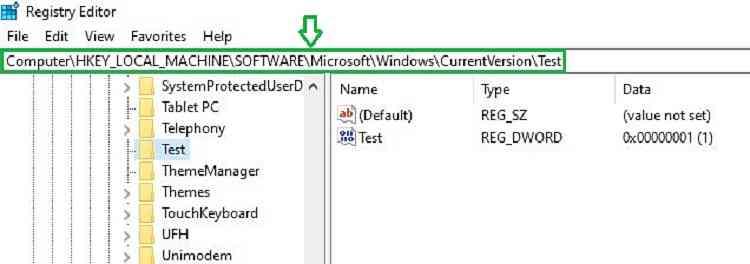 System32 registry intune