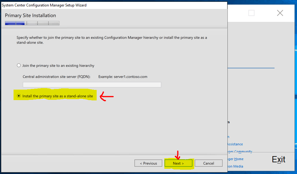 Install SCCM Primary server - New ConfigMgr Primary Server Installation Step by Step Guide