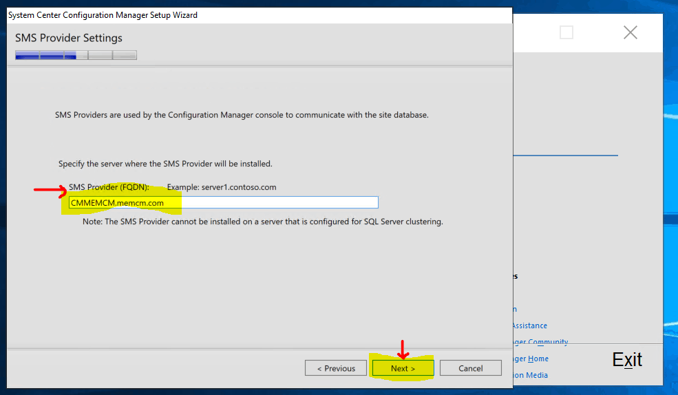 SMS Provider - New ConfigMgr Primary Server Installation Step by Step Guide