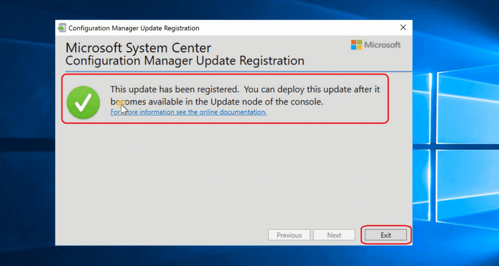 Update has been registration KB4538166
