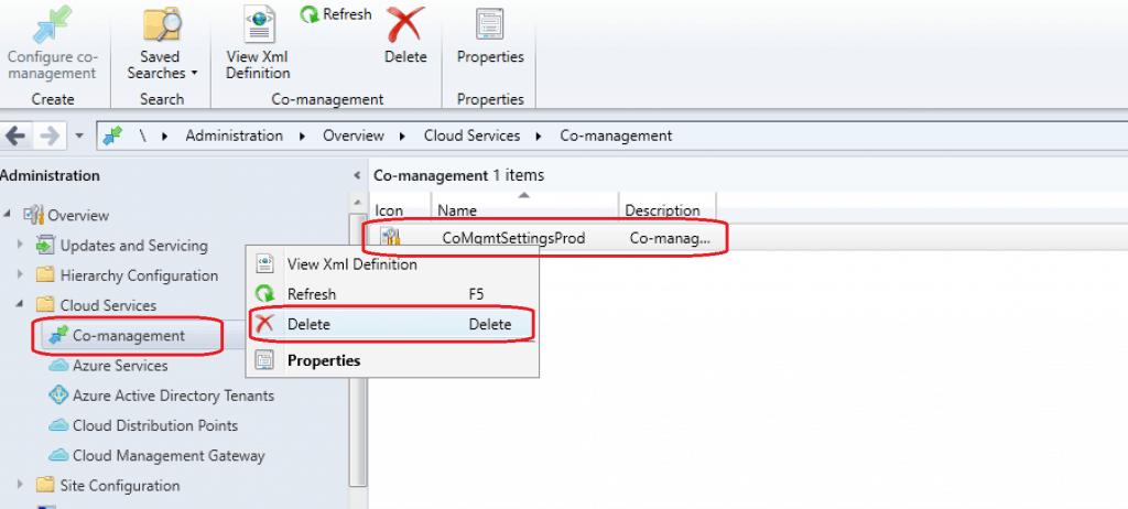 SCCM|ConfigMgr 1910 Co-Management Settings Issue