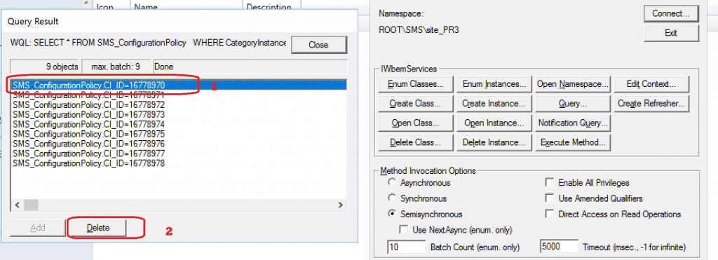 Delete the Objects from WMI - Co-management Settings Grayed Out issue