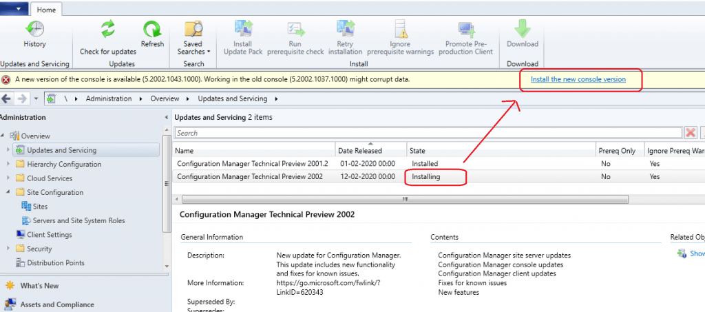 Install SCCM 2002 Technical Preview Version