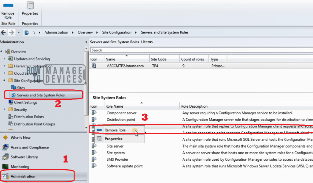 Remove Management Point Role - Removal – ConfigMgr|SCCM Remove Management Point Role