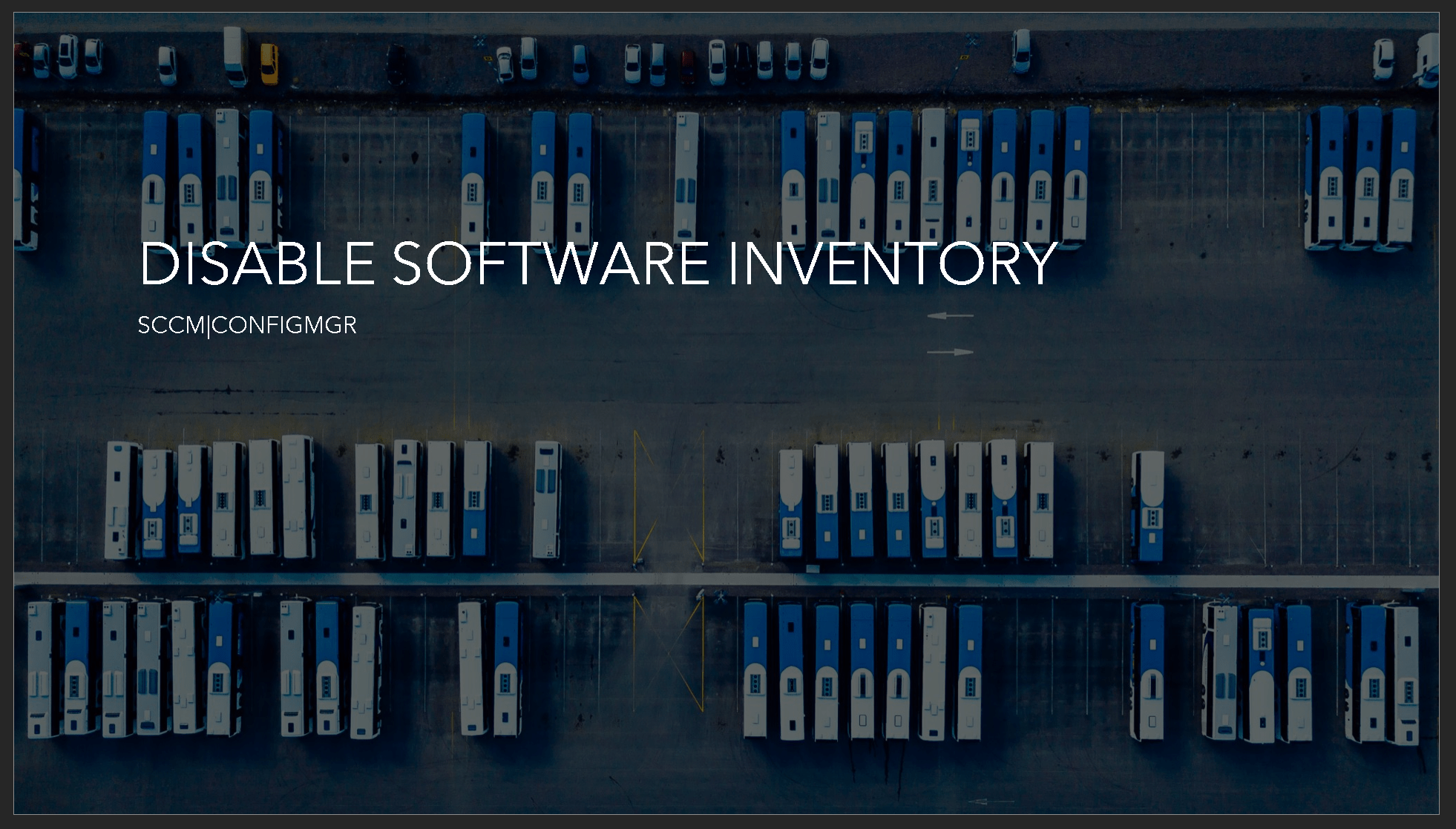 Disable Software Inventory